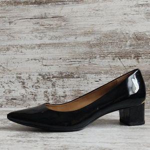 🔴Calvin Klein Patent Leather Block Heel